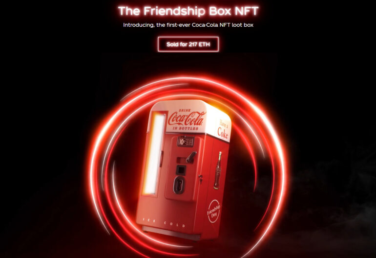 A picture of the Coke NFTs
